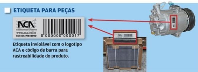 Etiqueta Peças